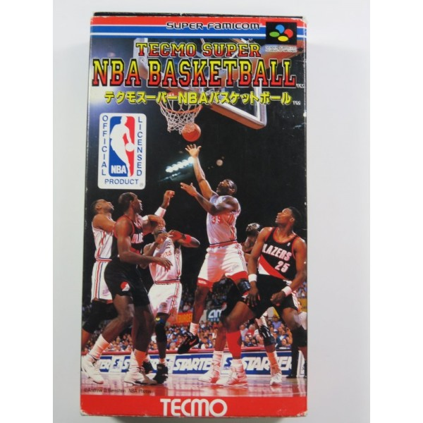 TECMO SUPER NBA BASKETBALL SUPER FAMICOM (SFC) NTSC-JPN (COMPLETE)