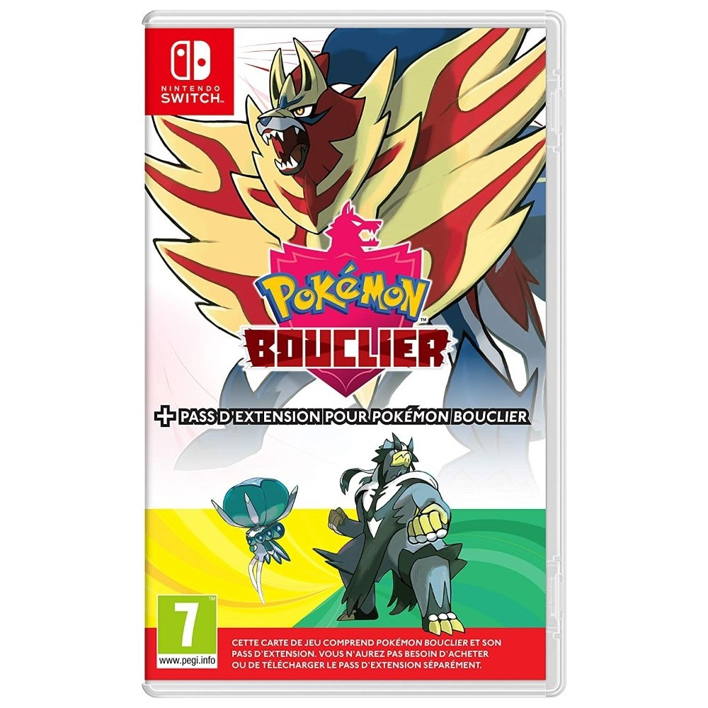POKEMON BOUCLIER + PACK EXPANSION SWITCH FR OCCASION