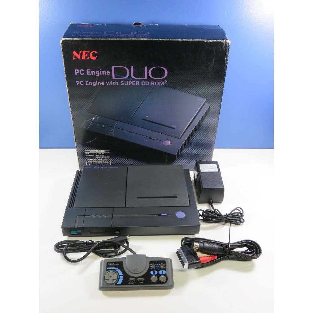 CONSOLE NEC PC ENGINE DUO PI-TG8 NTSC-JPN (BOX MATCHING - NO MANUAL - GOOD CONDITION)(SERIAL - 2Y030011B)