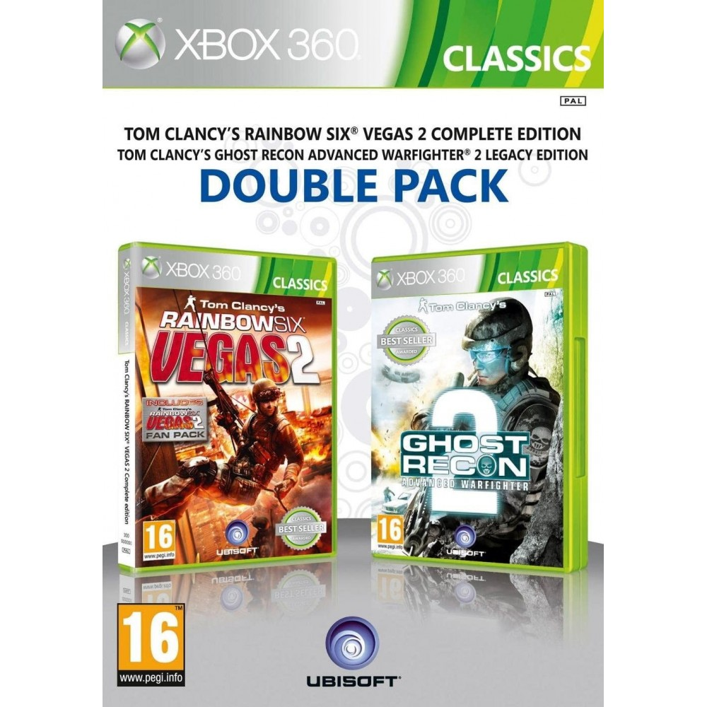 DOUBLE PACK TOM CLANCY S RAINBOW SIX VEGAS 2 - GHOST RECON 2 XBOX 360 PAL-FR OCCASION