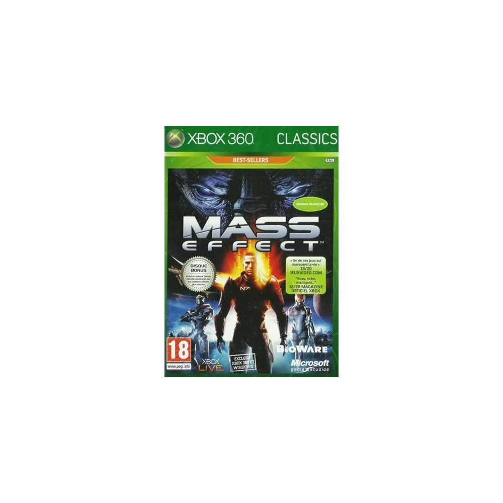 MASS EFFECT (BEST SELLERS CLASSICS) XBOX 360 PAL-FR OCCASION
