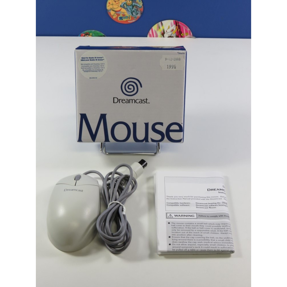 MOUSE - SOURIS SEGA DREAMCAST EURO (BOXED)(COMPLET - VERY GOOD CONDITION)