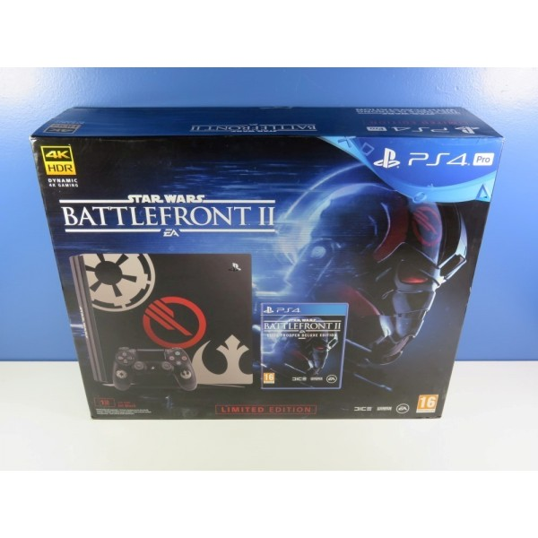 CONSOLE SONY PLAYSTATION 4 (PS4) PRO 1 TO EDITION LIMITED STAR WARS BATTLEFRONT II EURO NEUF - BRAND NEW