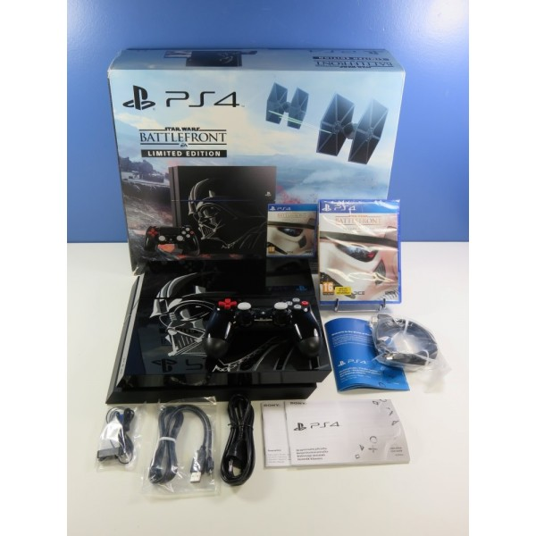 CONSOLE SONY PLAYSTATION 4 (PS4) 1TO STAR WARS BATTLEFRONT LIMITED EDITION CUH-1216B (COMPLETE - EXCELLENT CONDITION)