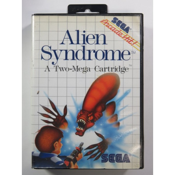 ALIEN SYNDROME SEGA MASTER SYSTEM PAL-EURO ( COMPLETE - GOOD CONDITION )