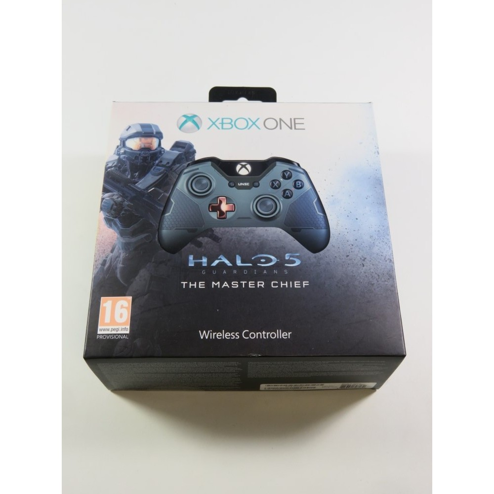 CONTROLLER - MANETTE WIRELESS HALO 5 GUARDIANS MASTER CHIEF LIMITED EDITION XBOX ONE EURO (COMPLET - GOOD CONDITION)