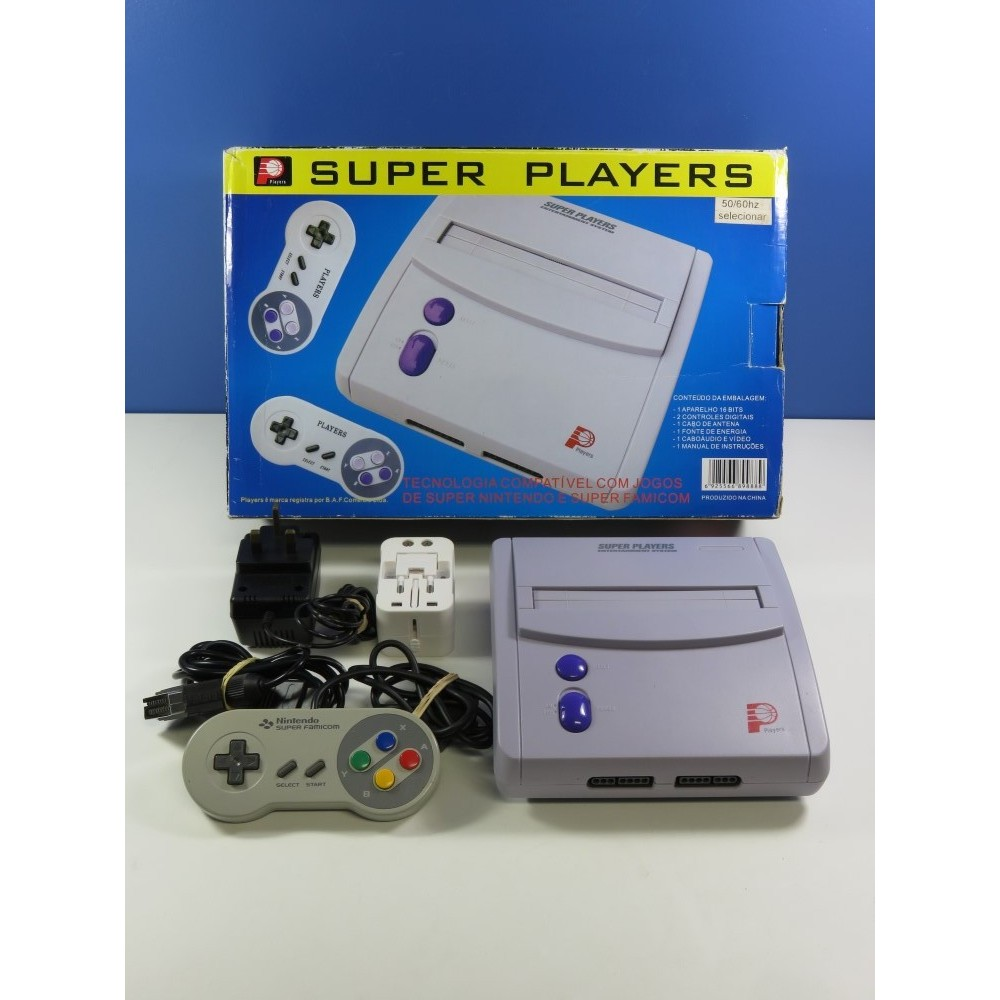 CONSOLE D EMULATION SUPER PLAYERS ENTERTAINMENT SYSTEM (GENERIC)(WITHOUT MANUAL)(WITH SUPER FAMICOM CONTROLLER)