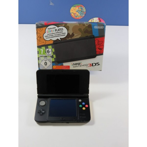 CONSOLE NINTENDO NEW 3DS (WITH NINTENDO COVER PLATE) (BOXED) NINTENDO 3DS PAL-EURO (COMPLET - GOOD CONDITION)