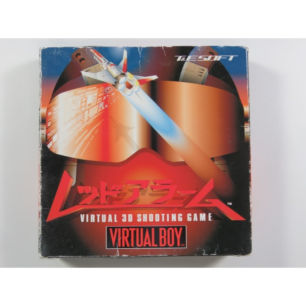 RED ALARM: VIRTUAL 3D SHOOTING GAME VIRTUAL BOY JPN (COMPLETE WITH REG CARD - GOOD CONDITION OVERALL)
