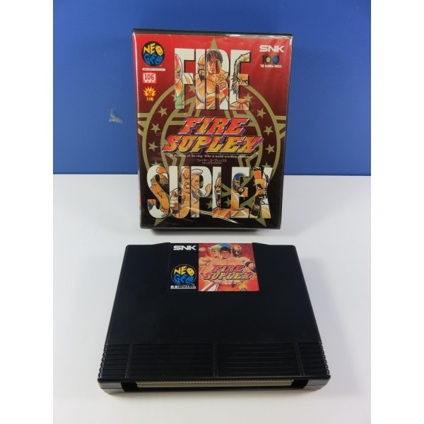 FIRE SUPLEX SNK NEOGEO AES JPN (WITHOUT MANUAL - GOOD CONDITION OVERALL)