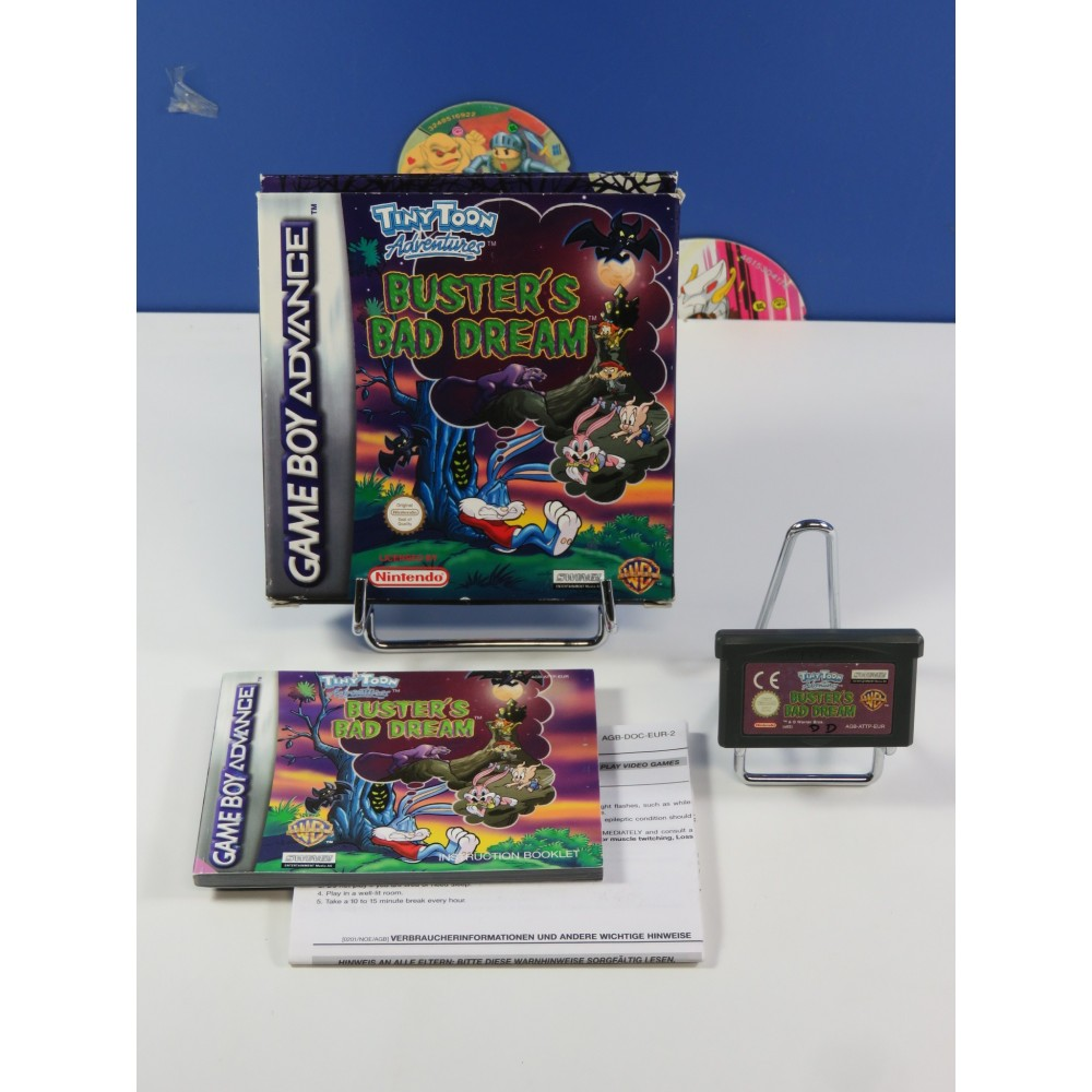 TINY TOON ADVENTURES BUSTER S BAD DREAM GAMEBOY ADVANCE (GBA) PAL-EUR (COMPLETE)