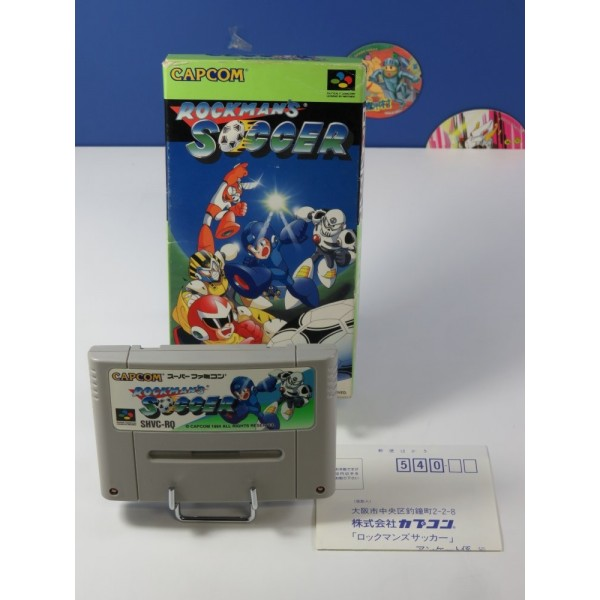 ROCKMAN S SOCCER SUPER FAMICOM (SFC) NTSC-JPN ( WITHOUT MANUAL - GOOD CONDITION) (WITH REG. CARD)