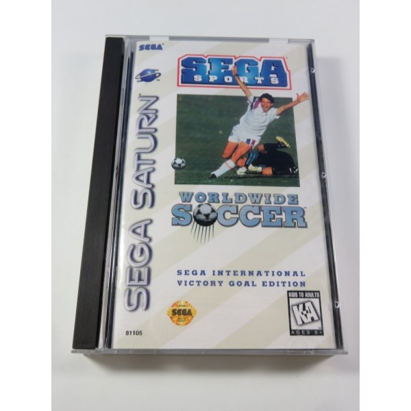 WORLDWIDE SOCCER SEGA SATURN NTSC-USA (COMPLET - VERY GOOD CONDITION)