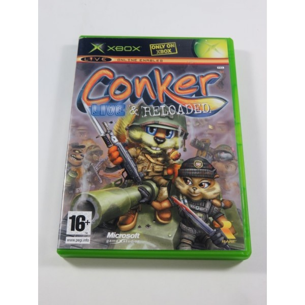 CONKER - LIVE & RELOADED XBOX PAL-UK (COMPLET - GOOD CONDITION)(RARE - 2005)