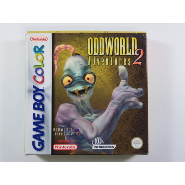 ODDWORLD ADVENTURES 2 GAMEBOY COLOR (GBC) EUU (COMPLETE - GOOD CONDITION)