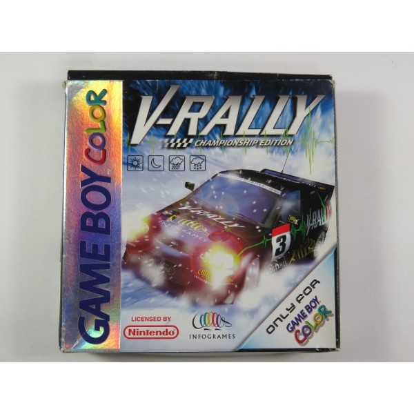V-RALLY CHAMPIONSHIP EDITION GAMEBOY COLOR (GBC) FAH (COMPLETE - GOOD CONDITION OVERALL)