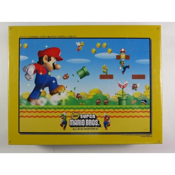 JIGSAW PUZZLE NEW SUPER MARIO BROS (300 PCS) (NO.300-L171) NINTENDO 2006 (BRAND NEW - NEUF)
