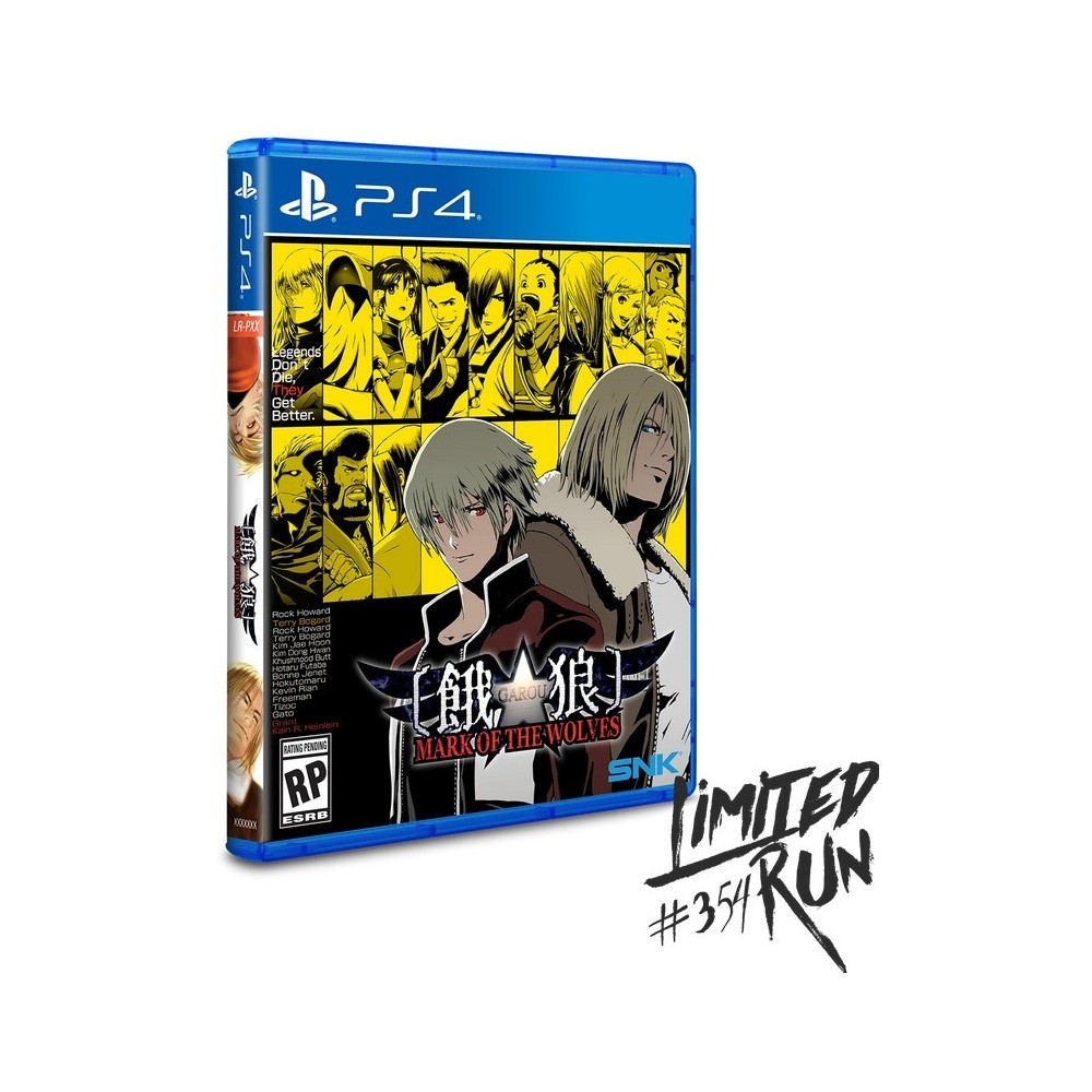 MARK OF THE WOLVES PS4 US NEW(LIMITED RUN GAMES)