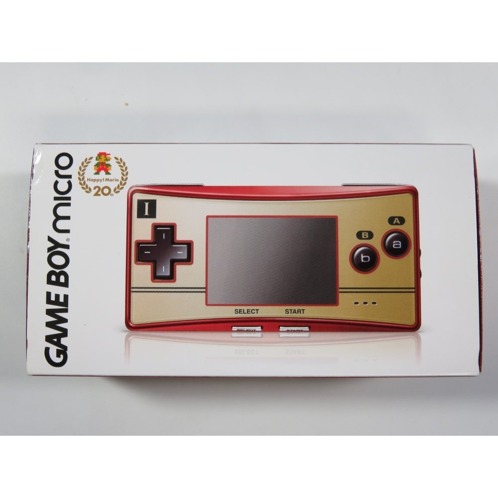 CONSOLE GAMEBOY ADVANCE (GBA) MICRO FAMICOM EDITION 20TH NTSC-JPN (COMPLETE - GOOD CONDITION)