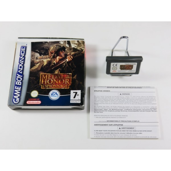 MEDAL OF HONOR ESPIONNAGE GAMEBOY ADVANCE (GBA) FRA (WITHOUT MANUAL - GOOD CONDITION OVERALL)