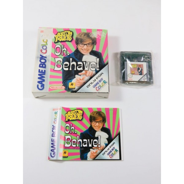 AUSTIN POWERS - OH, BEHAVE! GAMEBOY COLOR (GBC) EUR (COMPLET - GOOD CONDITION OVERALL)