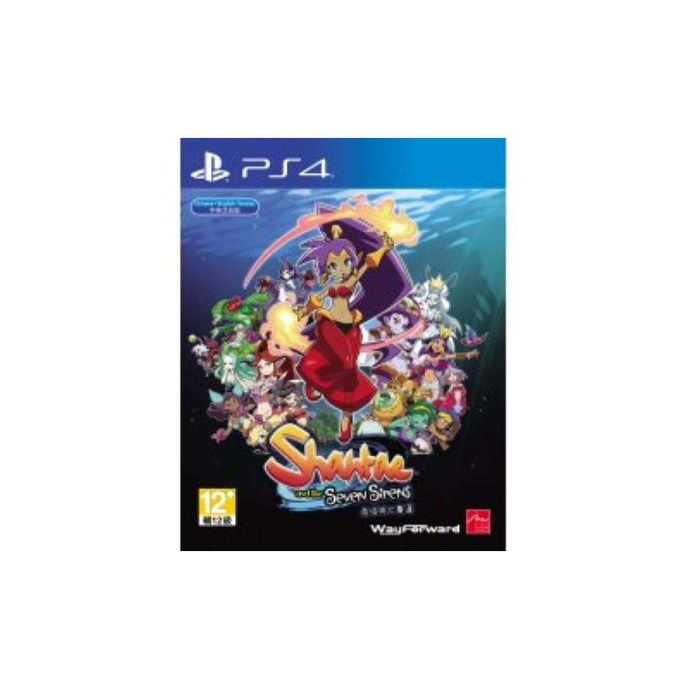 SHANTAE AND THE SEVEN SIRENS PS4 ASIAN AVEC TEXTE EN ANGLAIS NEW