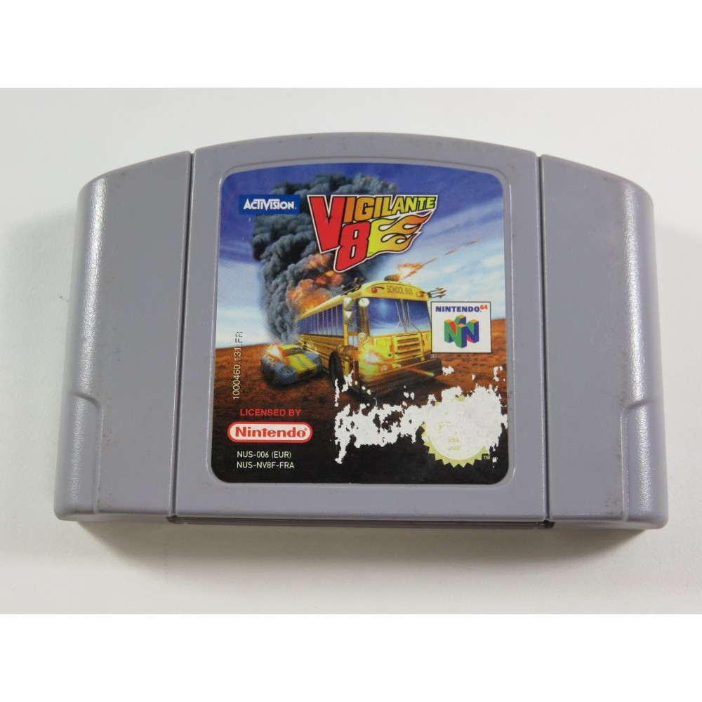 VIGILANTE 8 NINTENDO 64 (N64) PAL-FRA (CARTRIDGE ONLY - GOOD CONDITION)