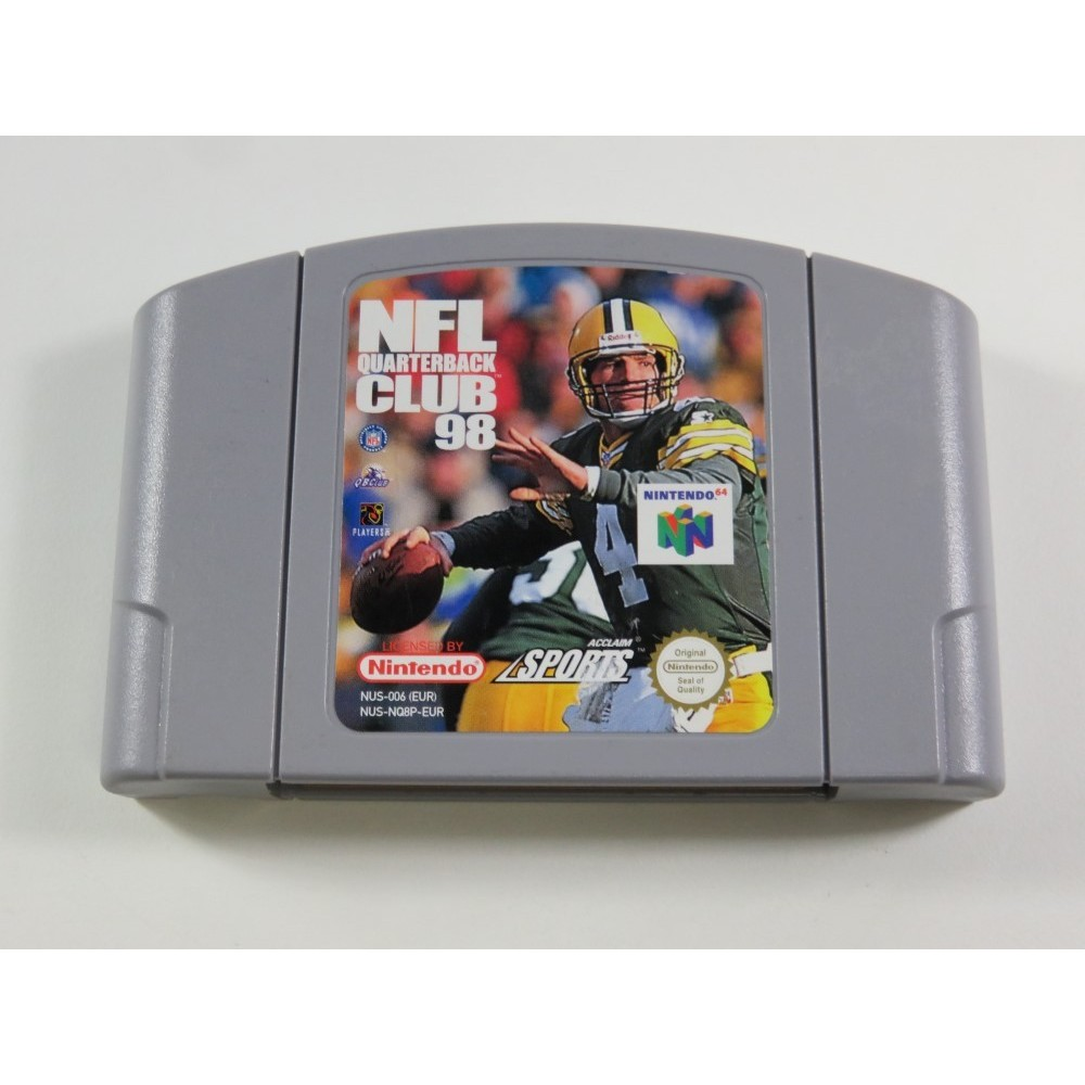 NFL QUATERBACK CLUB 98 NINTENDO 64 (N64) PAL-EURO (CARTRIDGE ONLY - GOOD CONDITION)