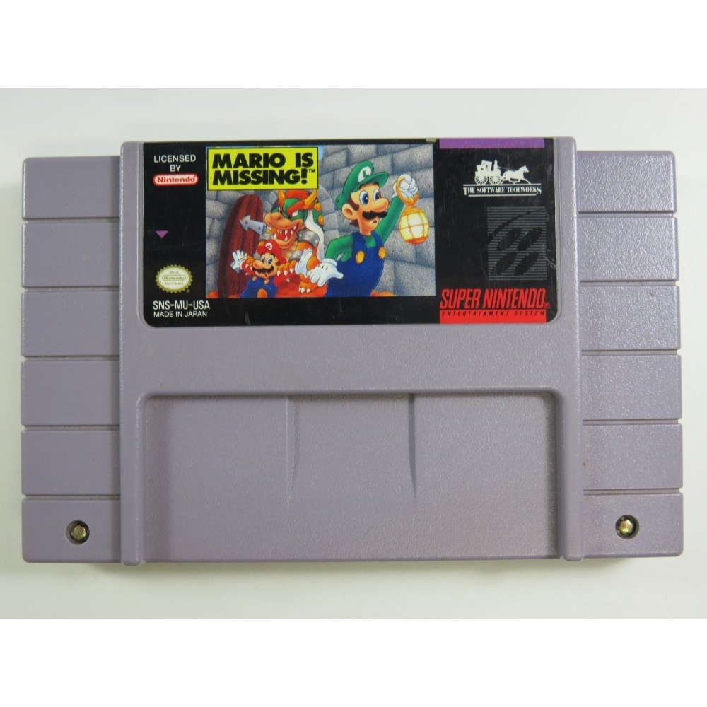 MARIO IS MISSING SUPER NINTENDO (SNES) NTSC-USA (CARTRIDGE ONLY)