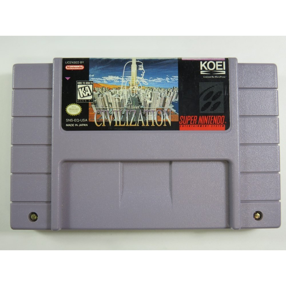 CIVILIZATION SUPER NINTENDO (SNES) NTSC-USA (CARTRIDGE ONLY - GOOD CONDITION)