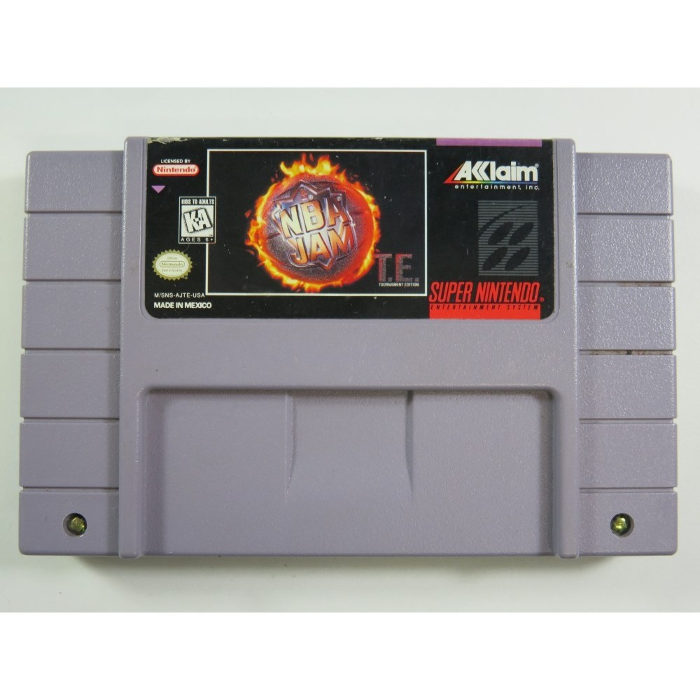NBA JAM T.E. SUPER NINTENDO (SNES) NTSC-USA (CARTRIDGE ONLY - GOOD CONDITION)