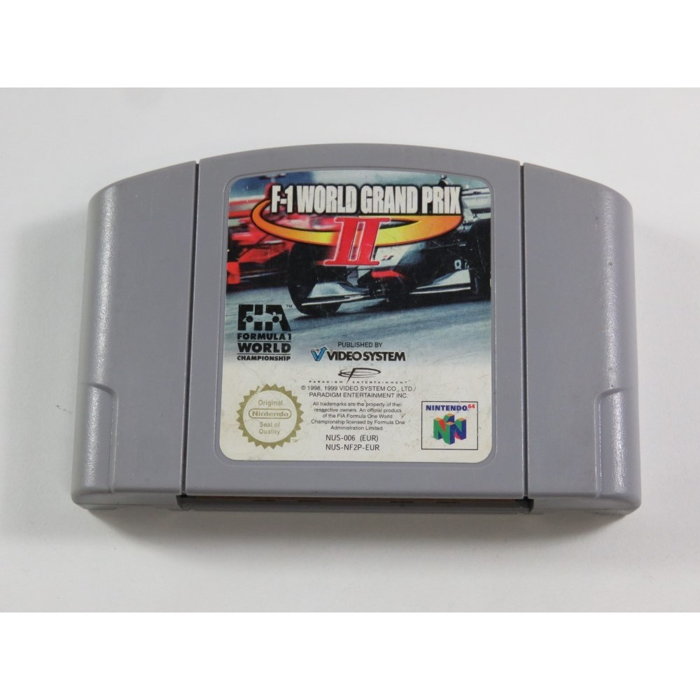 F-1 WORLD GRAND PRIX II NINTENDO 64 (N64) PAL-EUR (CARTRIDGE ONLY - GOOD CONDITION)