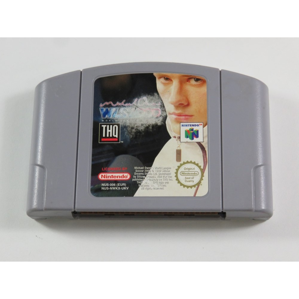 MICHAEL OWEN S WLS 2000 NINTENDO 64 (N64) PAL-UKV (CARTRIDGE ONLY - GOOD CONDITION OVERALL)