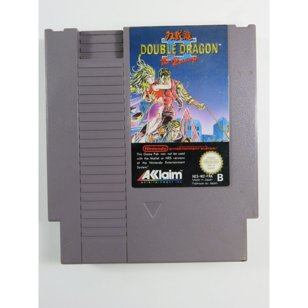 DOUBLE DRAGON II NINTENDO NES PAL-B FRA (CARTRIDGE ONLY - GOOD CONDITION)