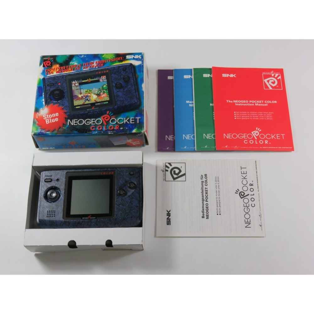 CONSOLE SNK NEO GEO POCKET COLOR STONE BLUE EURO (BOXED) (COMPLET - GOOD CONDITION)