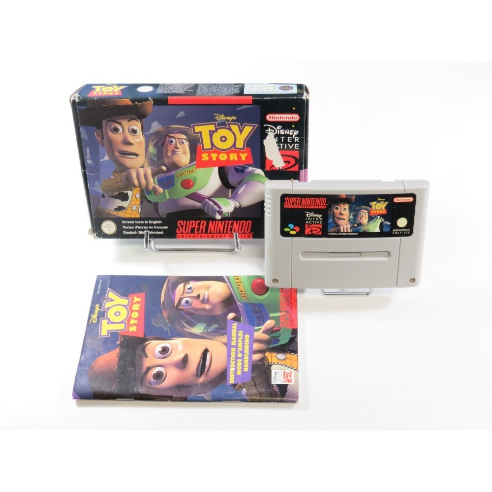 DISNEY S TOY STORY SUPER NINTENDO (SNES) PAL-EUR (COMPLET - GOOD CONDITION)