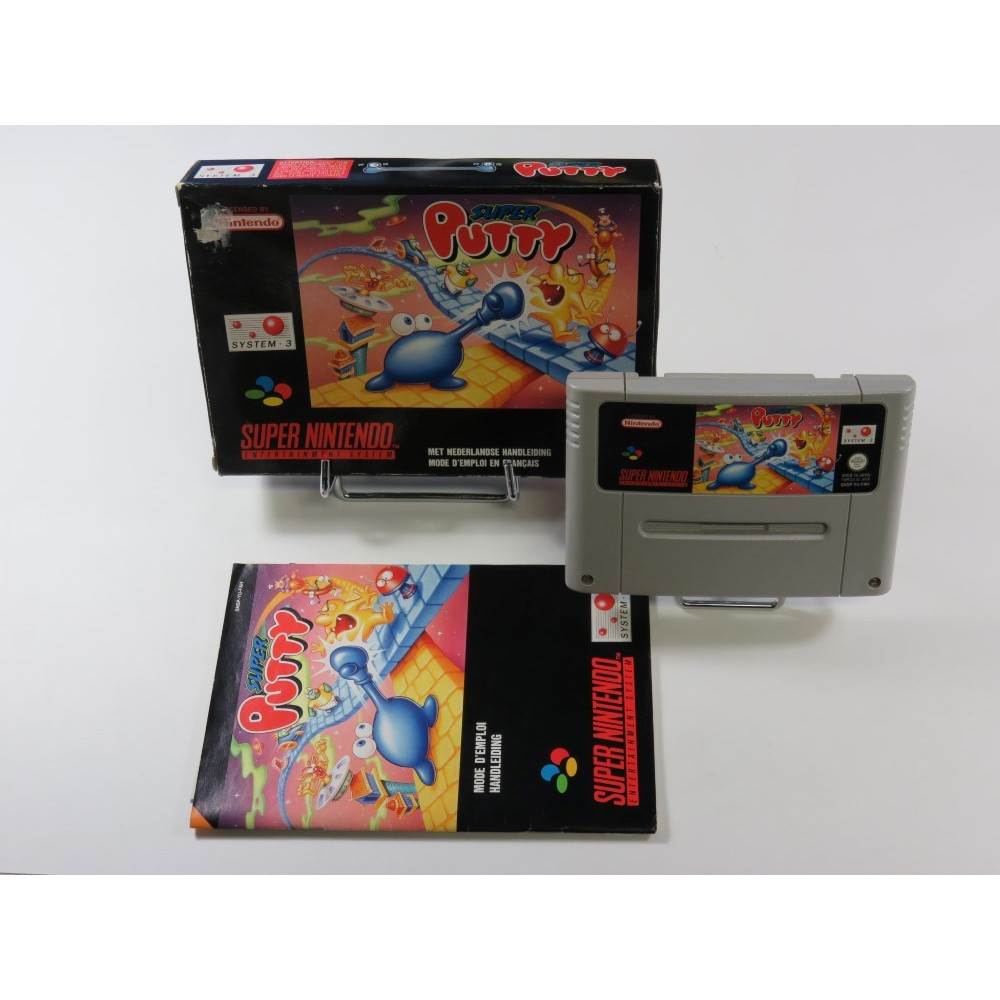 SUPER PUTTY SUPER NINTENDO (SNES) PAL-FAH (COMPLET - GOOD CONDITION)