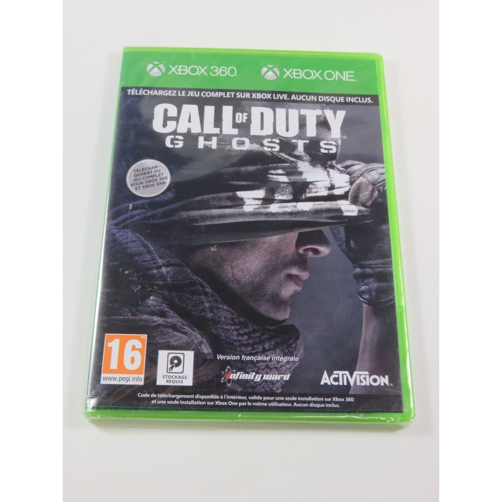 CALL OF DUTY GHOSTS - EDITION DIGITALE - AUCUN DISQUE XBOX ONE PAL-FR NEUF - BRAND NEW