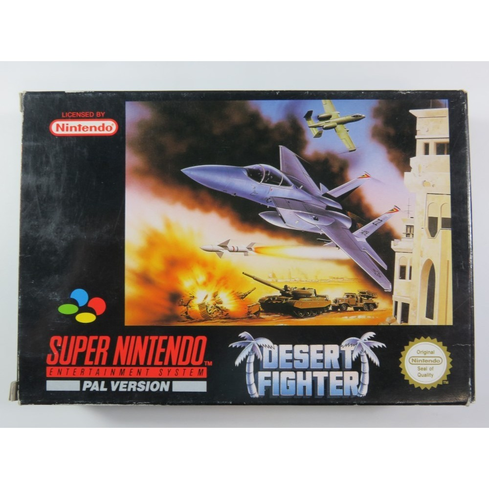 DESERT FIGHTER SUPER NINTENDO (SNES) PAL-UKV (COMPLETE WITH FRENCH IMPORT MANUAL - GOOD CONDITION)