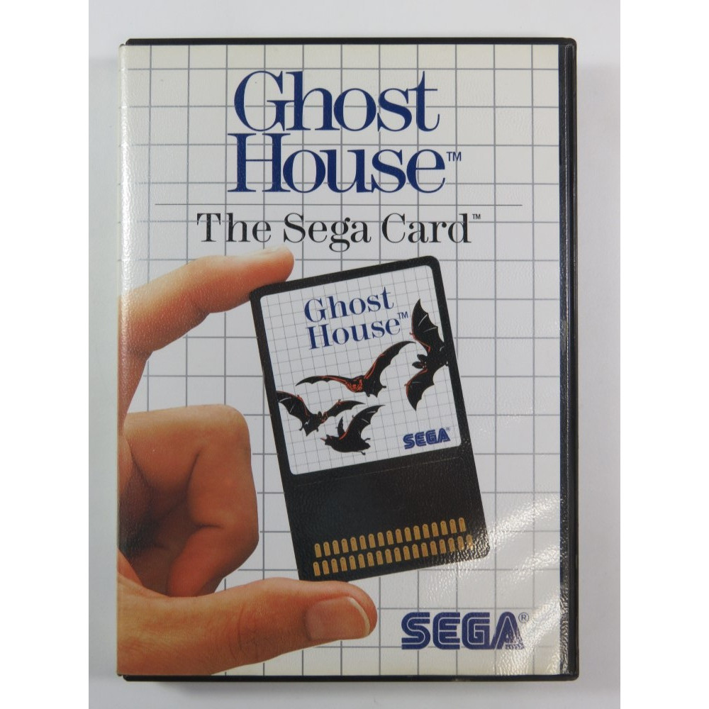 GHOST HOUSE SEGA CARD MASTER SYSTEM PAL-EURO (COMPLETE - GOOD CONDITION)