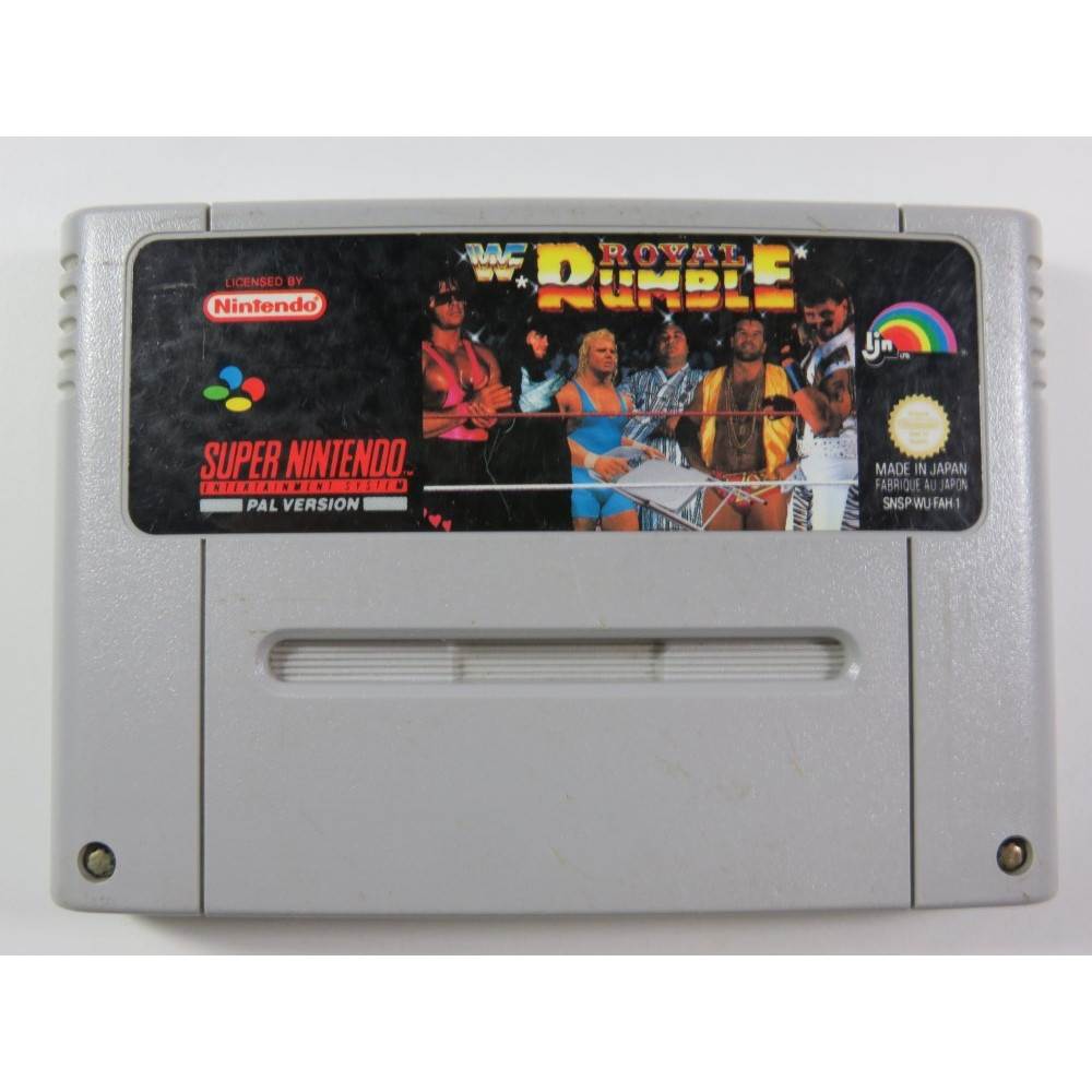 WWF ROYAL RUMBLE SUPER NINTENDO (SNES) PAL-FAH-1 (CARTRIDGE ONLY - GOOD CONDITION)