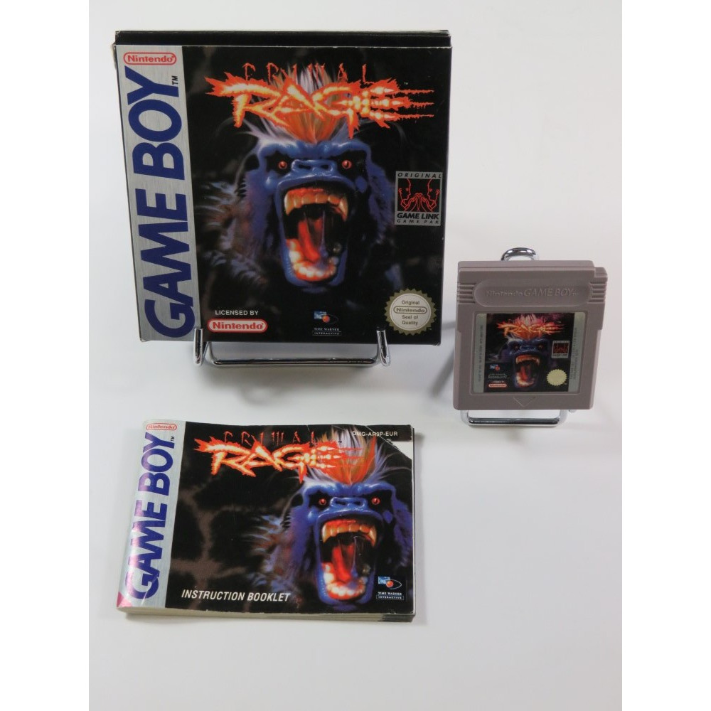 PRIMAL RAGE NINTENDO GAMEBOY (GB) EUR (COMPLET - GOOD CONDITION OVERALL)