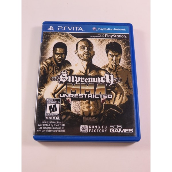 SUPREMACY MMA: UNRESTRICTED SONY PSVITA USA (COMPLET - GOOD CONDITION)
