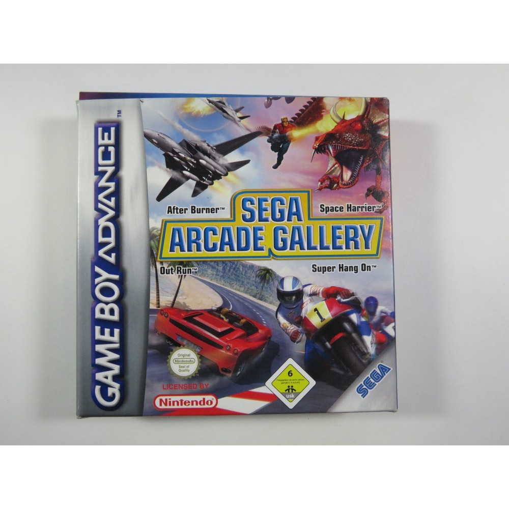 SEGA ARCADE GALLERY GAMEBOY ADVANCE (GBA) PAL-EUR (COMPLETE - VERY GOOD CONDITION)