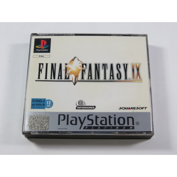 FINAL FANTASY IX PLATINUM SONY PLAYSTATION 1 (PS1) PAL-FR (COMPLET - GOOD CONDITION)