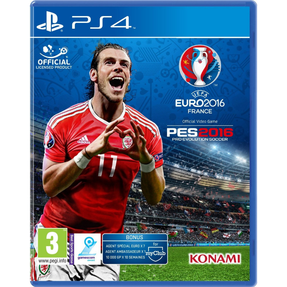 EURO 2016 PES 16 PS4 OCCASION