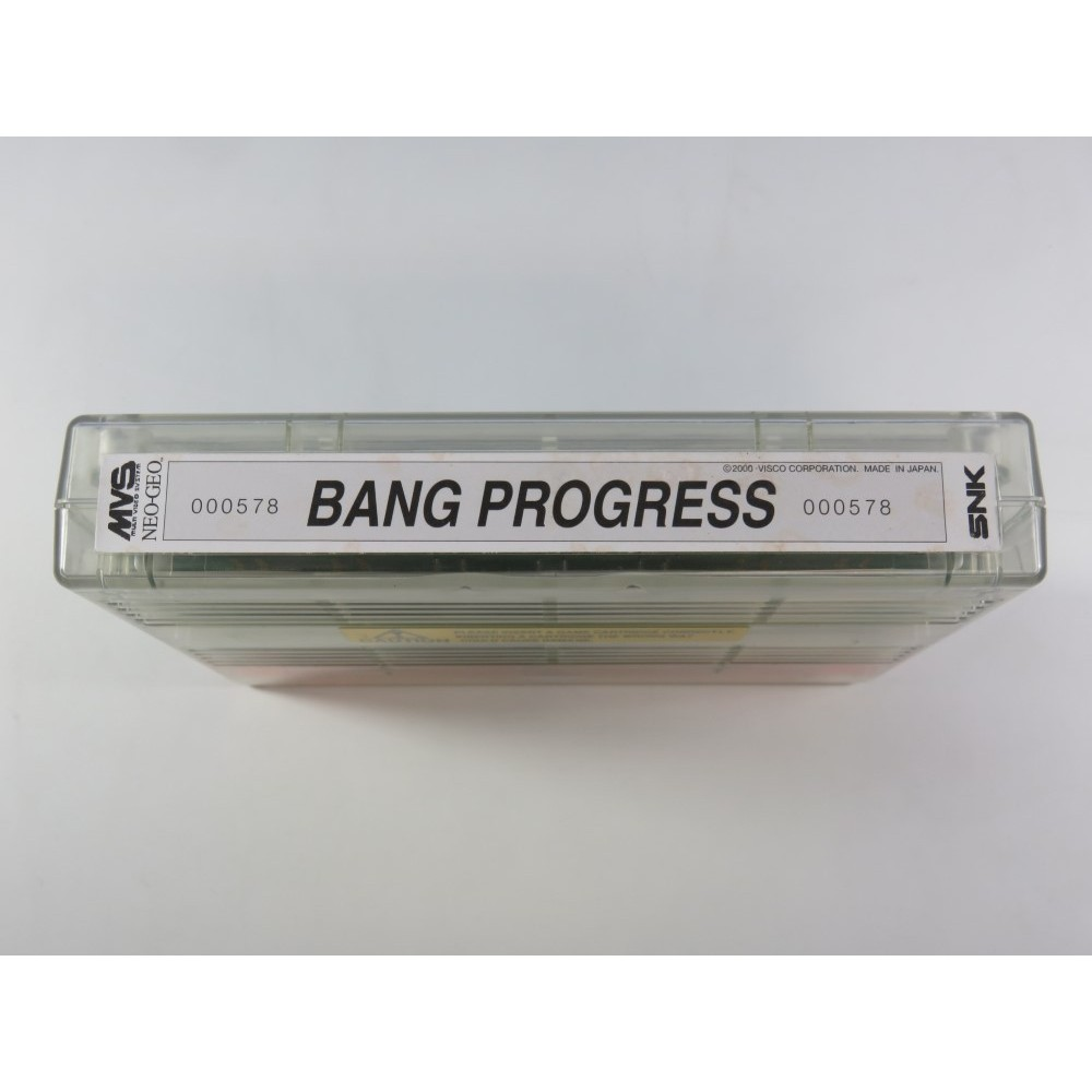 MVS BANG PROGRESS (CARTRIDGE ONLY - WITH ART-SET - WITHOUT STICKERS) (GOOD CONDITION OVERALL)