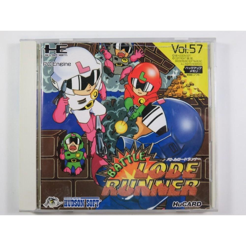 BATTLE LODE RUNNER NEC HUCARD NTSC-JPN (COMPLETE - GOOD CONDITION)