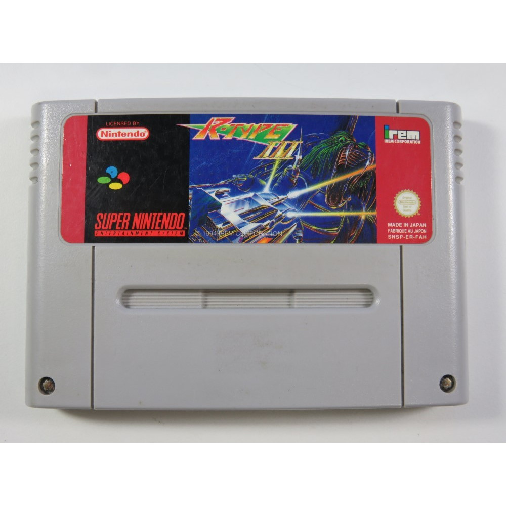 R-TYPE III THE THIRD LIGHTNING SUPER NINTENDO (SNES) PAL-FAH (CARTRIDGE ONLY - GOOD CONDITION) IREM SHMUP