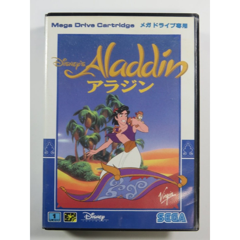 ALADDIN SEGA MEGADRIVE NTSC-JPN (SANS NOTICE - WITHOUT MANUAL)